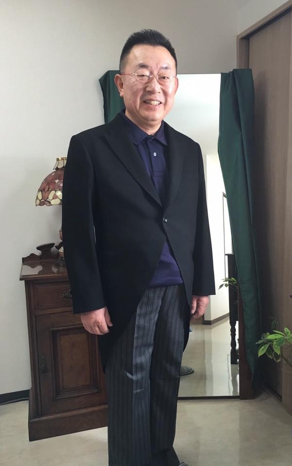 【広島県広島市在住 KKさま】国産生地でモーニングコートとコールズボン2本をお仕立て