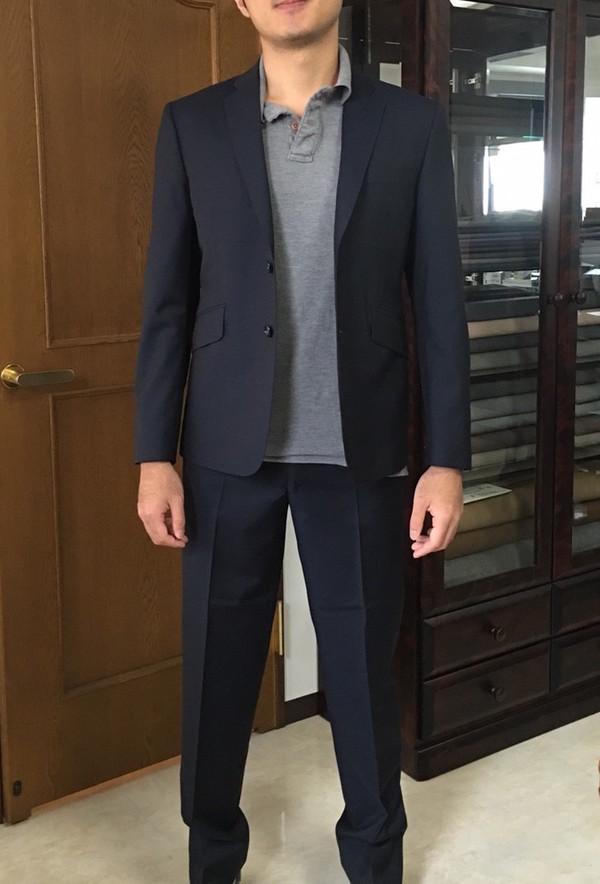【東京都江東区在住 RSさま】グアベロ社(伊)製生地で二つ釦シングルスーツをお仕立て