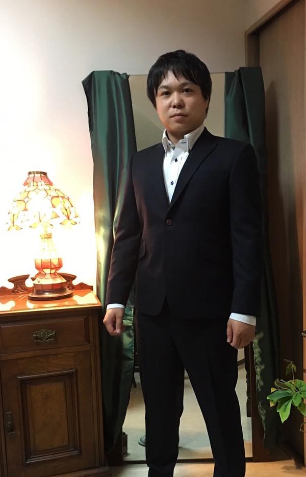 【東京都杉並区在住 TKさま】国産生地で二つ釦スペアパンツ付きシングルスーツをお仕立て