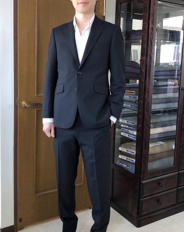 【神奈川県川崎市在住  森山裕之さま】国産生地で二つ釦シングルスーツをお仕立て