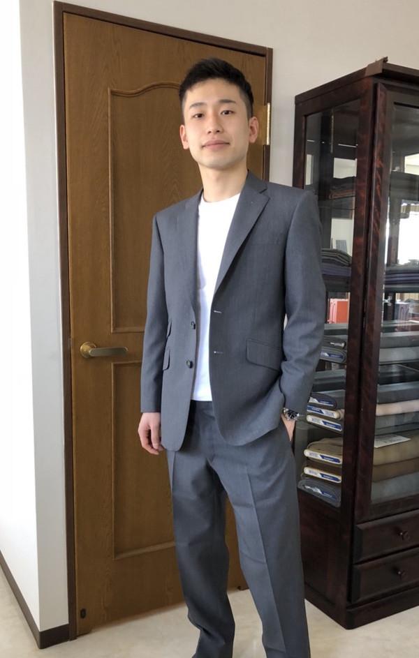 【東京都町田市在住 KAさま】国産生地で二つ釦シングルスーツをお仕立て