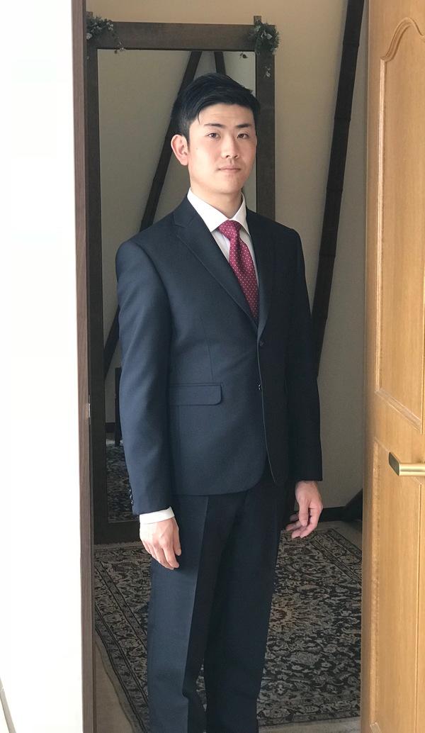 【千葉県流山市在住 SMさま】国産生地で二つ釦シングルスーツをお仕立て