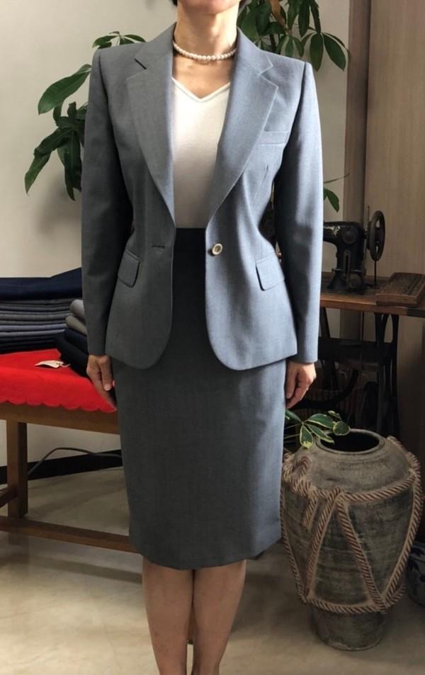 【東京都大田区在住  CNさま】国産生地で一つ釦シングル・レディススーツをお仕立て