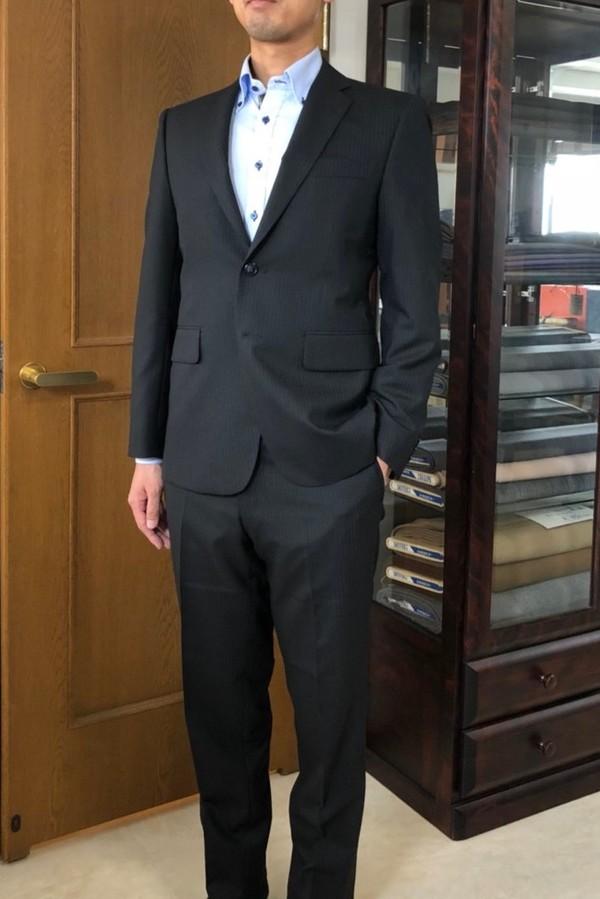 【埼玉県和光市在住  KYさま】国産生地で二つ釦シングルスーツをお仕立て
