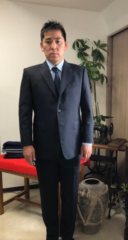 【東京都武蔵野市在住  GMさま】国産生地で三つ釦段返りシングルスーツをお仕立て