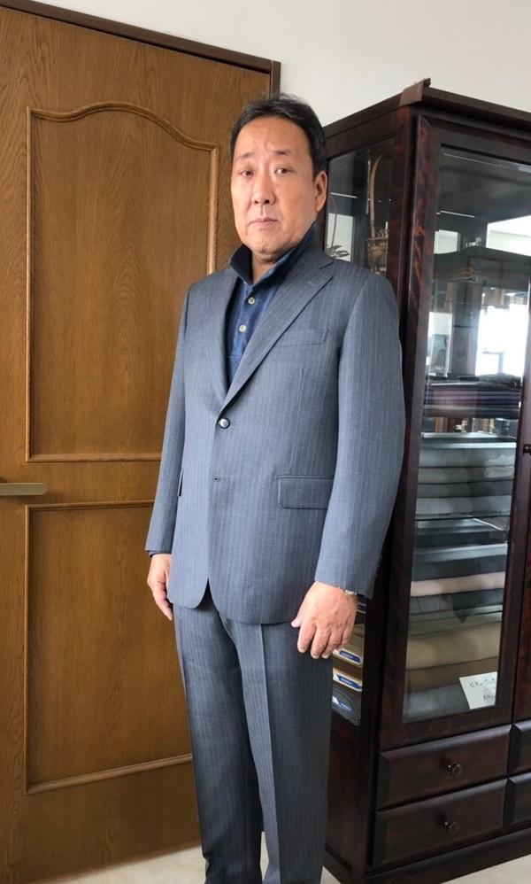 【埼玉県春日部市在住  小野純さま】国産生地で二つ釦シングルスーツをお仕立て
