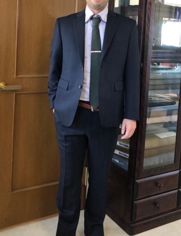 【東京都東村山市在住  大島俊介さま】国産生地で二つ釦シングルスーツをお仕立て