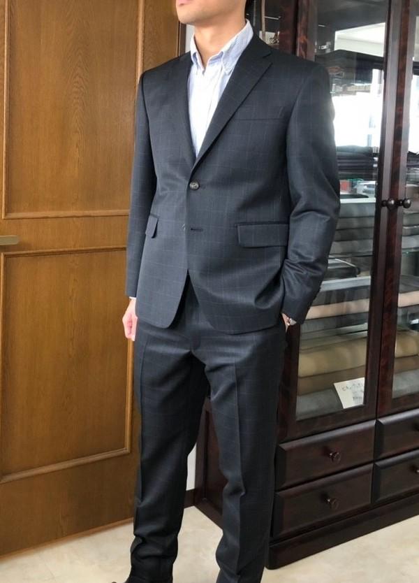【埼玉県戸田市在住  TMさま】国産生地で二つ釦シングルスーツを2着お仕立て