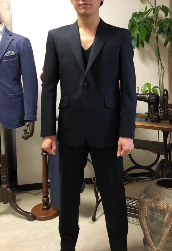 【東京都練馬区在住 FOさま】国産生地でスペアパンツ付き二つ釦シングルスーツをお仕立て