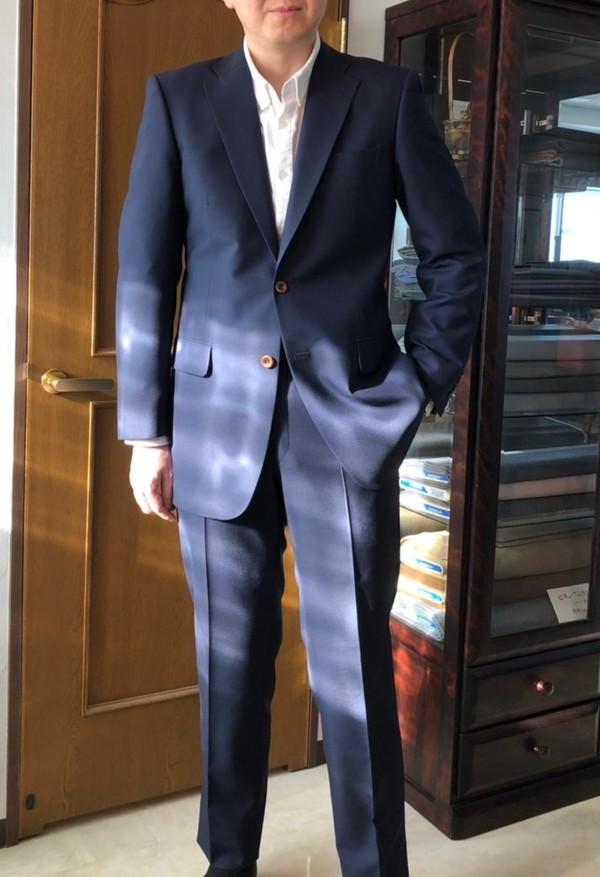 【神奈川県川崎市在住  SSさま】国産生地で二つ釦シングルスーツをお仕立て