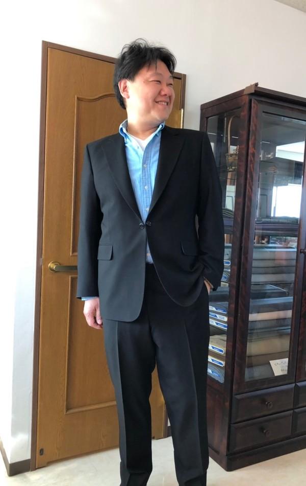 【東京都練馬区在住  栗崎豪さま】国産生地で礼服をお仕立て