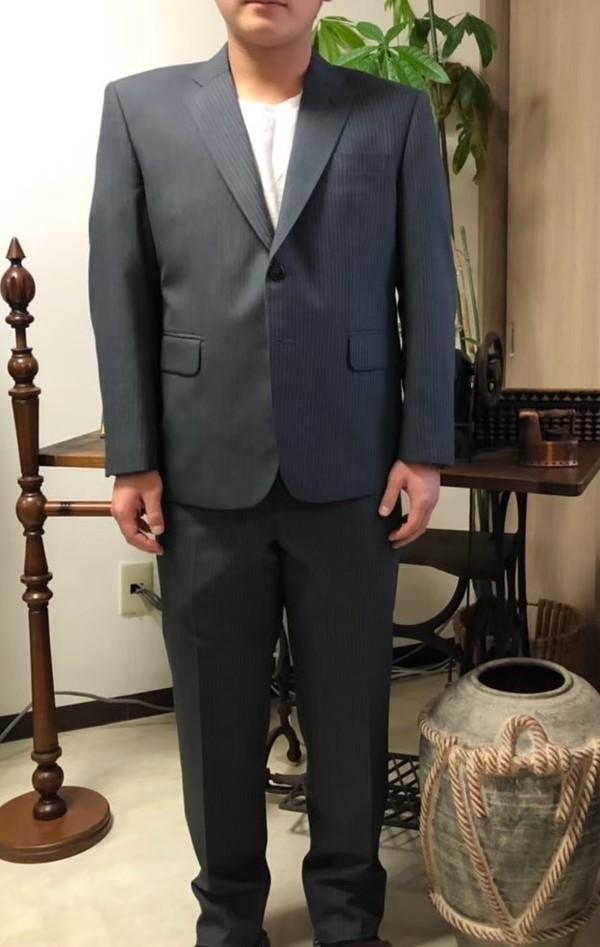 【東京都日野市在住 MFさま】国産生地で二つ釦シングルスーツをお仕立て