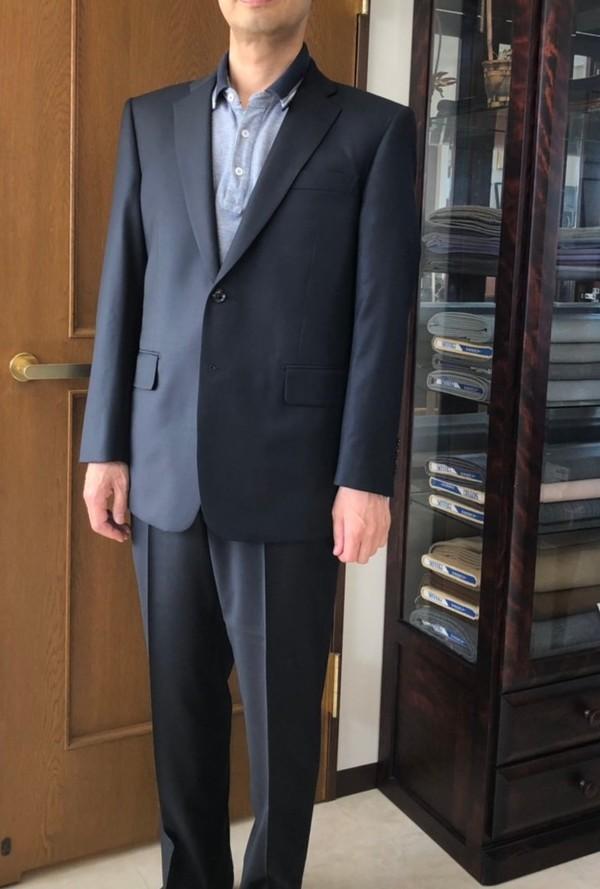 【東京都大田区在住  TWさま】チェルッティ社(伊)製生地で二つ釦シングルスーツをお仕立て