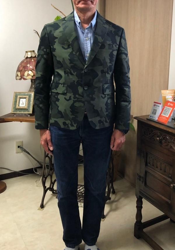 【東京都練馬区在住  桜井秀敏さま】国産生地で二つ釦シングルジャケットをお仕立て