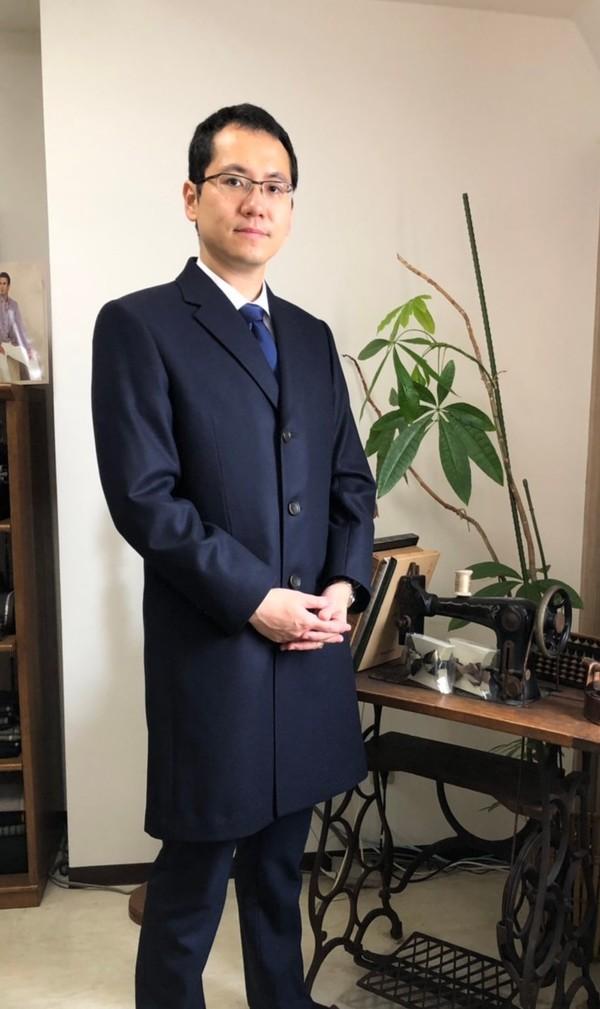 【東京都  AIさま】国産生地でチェスターコートをお仕立て