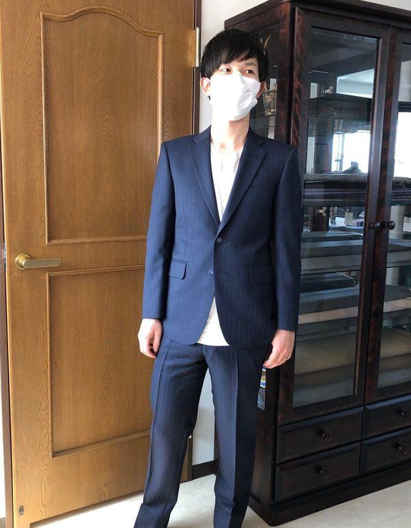 【埼玉県狭山市在住 TSさま】国産生地で二つ釦シングルスーツをお仕立て