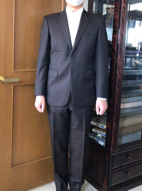 【東京都板橋区在住 DKさま】国産生地で二つ釦シングルスーツ/オーダーYシャツ三着をお仕立て