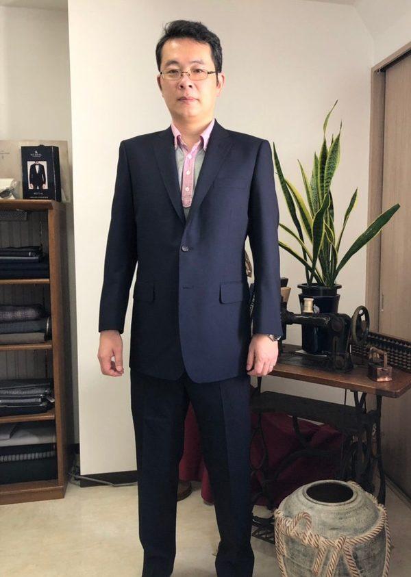 【埼玉県戸田市在住 KTさま】国産生地で二つ釦シングルスーツをお仕立て