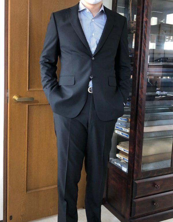【東京都江東区在住 MIさま】国産生地で二つ釦シングルスーツをお仕立て
