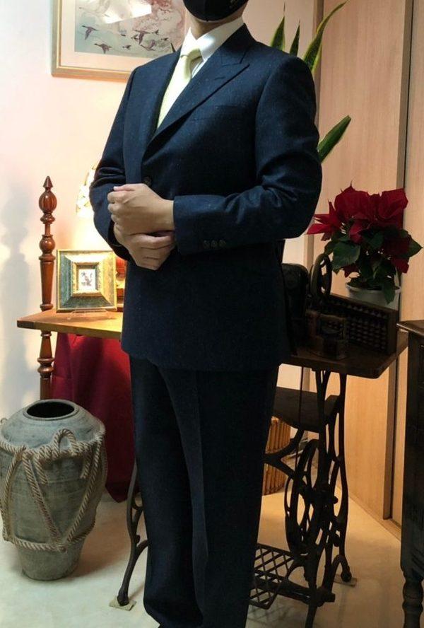 【東京都江戸川区在住 SKさま】Di Pray社(伊)製生地で三つ釦段返りシングルスーツをお仕立て