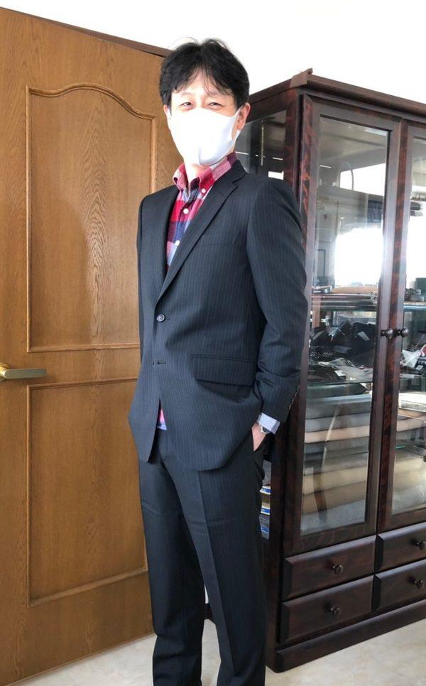 【東京都港区在住 KIさま】国産生地で二つ釦シングルスーツをお仕立て