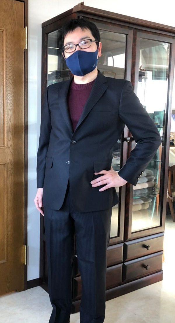 【東京都練馬区在住 TNさま】バウアーローバック社(英)製生地で二つ釦シングルスーツをお仕立て