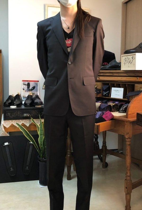 【東京都稲城市在住 YKさま】国産生地で二つ釦シングルスーツをお仕立て