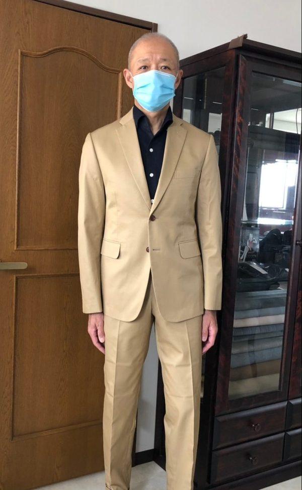 【東京都府中市在住 TUさま】国産生地で二つ釦シングルスーツをお仕立て
