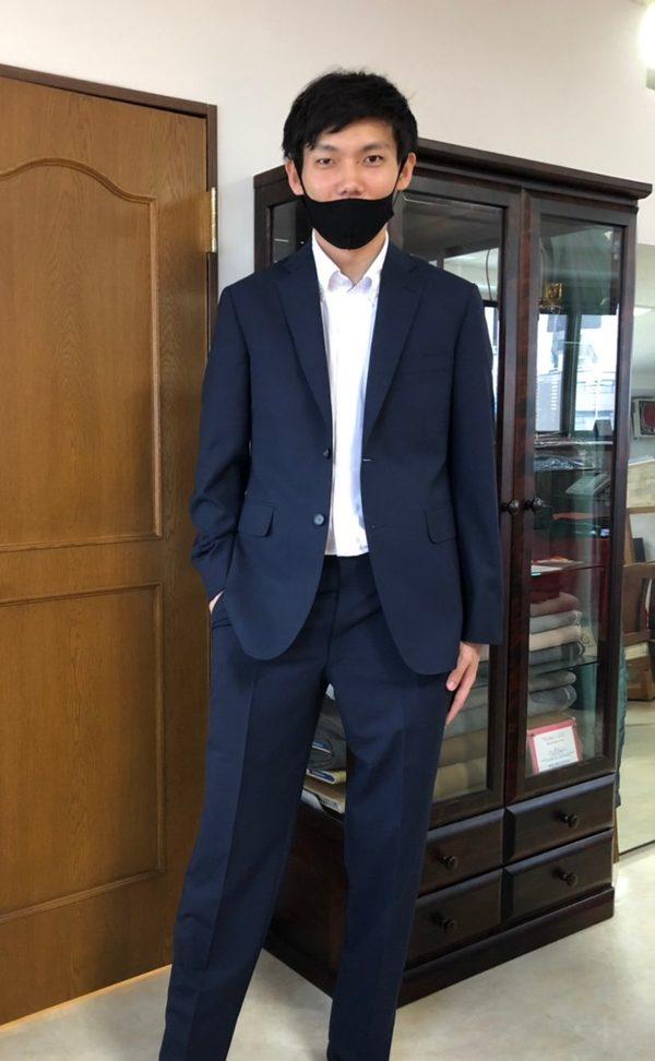 【神奈川県川崎市在住 原太陽さま】国産生地で二つ釦シングルスーツをお仕立て