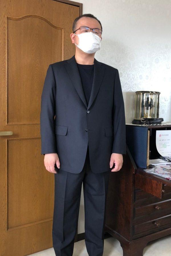 【東京都練馬区在住 HYさま】ウィリアム・ハルステッド社(英)製生地でスペアパンツ付き二つ釦シングルスーツをお仕立て