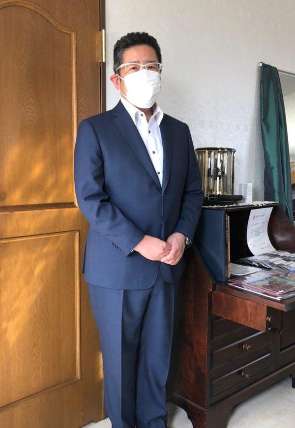 【東京都中野区在住 岡秀昭さま】国産生地で二つ釦シングルスーツをお仕立て