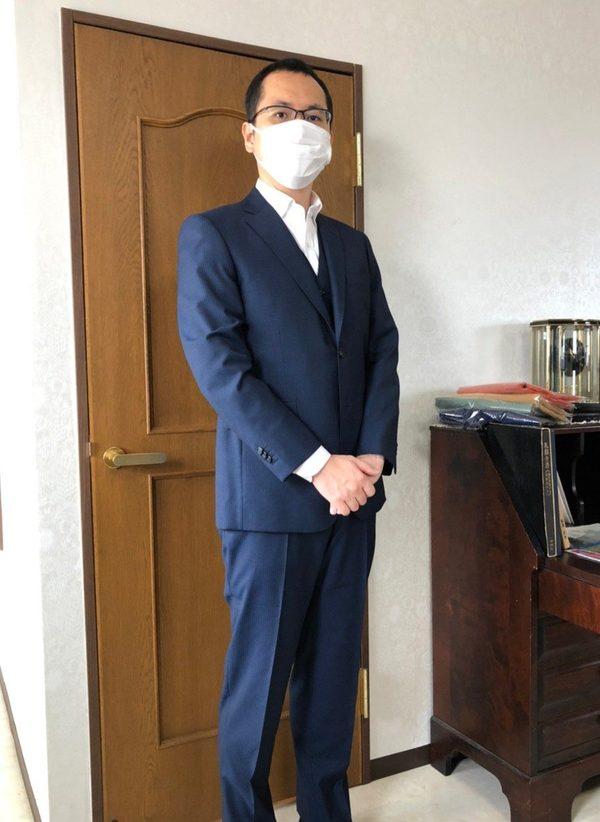 【東京都在住 AIさま】アンジェリコ社(伊)製生地で二つ釦シングルスーツをお仕立て